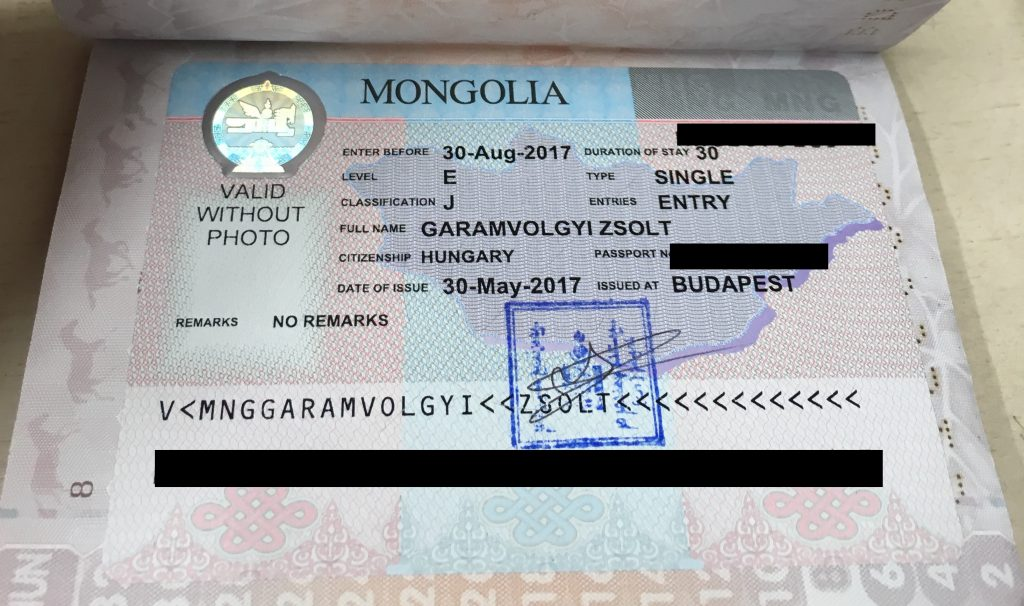 The visas mongol rally 2017 you fill out a form you take it to the mongolian embassy and one week later you have this wonderful sticker in your passport spiritdancerdesigns Image collections